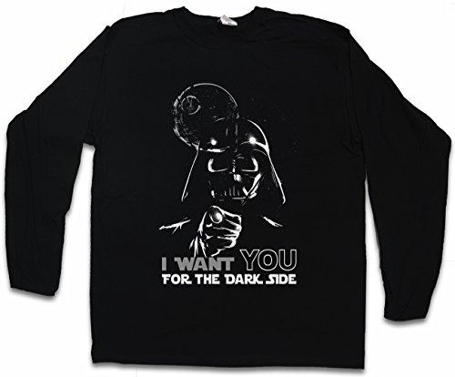 Urban Backwoods I Want You For The Dark Side Long Sleeve T-Shirt De Manga Larga Negro Talla XL