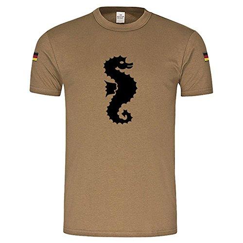 Frühschwimmerabzeichen Seepferdchen original Tropenshirt nach TL neu Tropenhemd ISAF KSK Bundeswehr Shirt (Herren XXXL, Khaki)