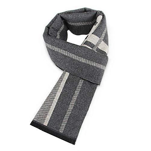 SPARKX Otoño e Invierno clásico Estilo británico señoras Hombres geométricos Jacquard algodón Bufandas,Gray 8,180 * 30CM