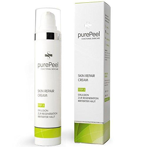 purePeel Skin Repair Cream, 50 ml/Hautregenerierende Gesichtscreme, Tages- & Nachtcreme, Spendet Feuchtigkeit, Beruhigend, Rückfettend & Intensiv Pflegend
