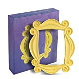 Yellow Door Frame, Replica of The Peephole Frame Seen in Monica's Door with 5 Stickers, Best for Home Decor Friends Gift