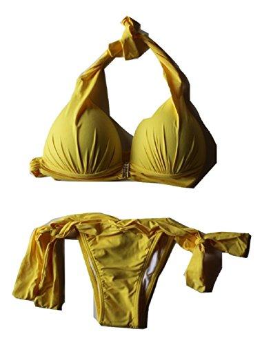 Sol e Agua Damen Bikini Brasilianisch The Sexiest Tie Side Bikini - Gelb - Large