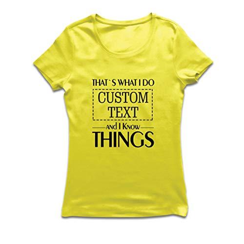 lepni.me Camiseta Mujer Costumbre Eso es lo Que Hago Personalizada y sé Cosas