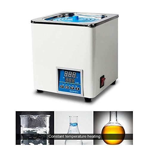 TOPQSC Termostático digital Baño de agua Laboratorio, Pantalla digital eléctrica emperatura constante, temperatura ambiente hasta 100 ° C, capacidad de 3 litros, 300 W, 220 V / 60 Hz (Una cámaras)