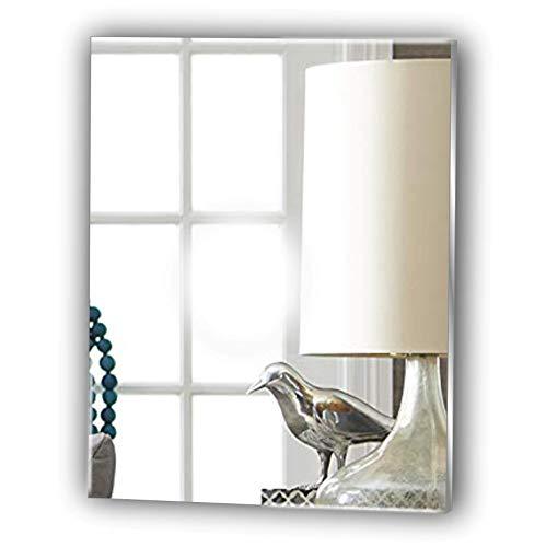 Frameless Rectangle Bathroom Glass Look Acrylic Mirror - Lightweight Vanity Mirror - Stick on Mirror