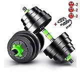 xy Fitnessgeräte Dumbbells Set for Gewichtheben und Bodybuilding Hex Gummi Gewicht-Training...