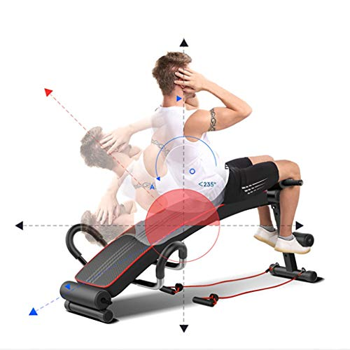 Multifunctional Decline Bench Sit Up Bench Exercise Equipment for Home Gym Adjustable Foldable Abdominal Sit-up Board,Foldable Incline/Decline Bench,Abdominal/Hyper Back Extension Bench (A)
