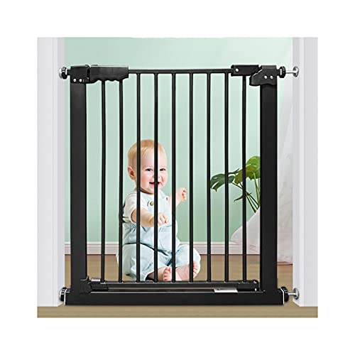 ZEMIN Baby Safety Gates for House,Doorway,Stairs,Multi-Size Pet Dog Isolation Gate,Punch Free Stair Guardrail (Color : Black, Size : 237-246.9cm)