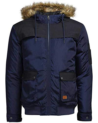 JACK & JONES Winterjacke Jortrack Jacket Pre-AUT Herren (XL, Blau (Navy Blazer))