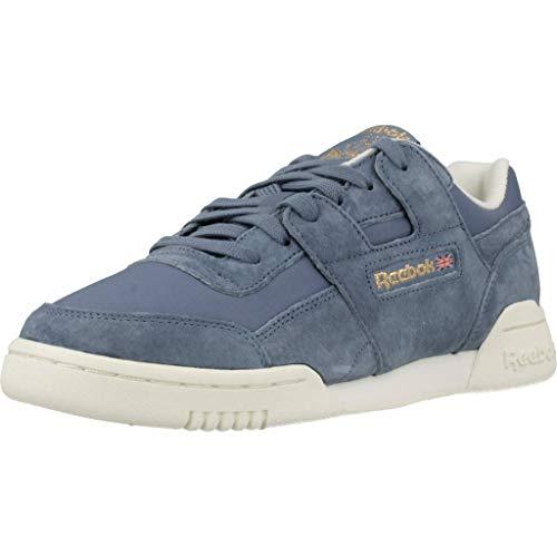 Reebok Workout Lo Plus, Zapatillas de Deporte Mujer, Multicolor (VTG/Blue Slate/Chalk/RBK Brass...