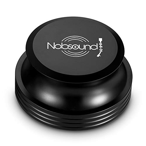 Nobsound LP Vinyl Turntable Disc Stabilizer Record Weight Clamp Vibration Reducer Aluminum Audiophile Grade HiFi for Record Player (Pro Version)