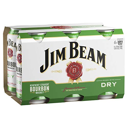 Jim Beam White & Dry Cans 6pk 375ml (Pack Of 6)