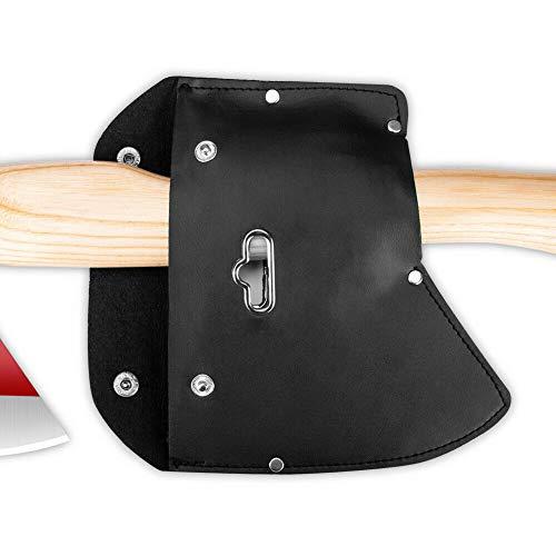 Yzki Axtscheide Premium PU Leder Axt Blade Holster Protector Cover mit Haken, Schwarz , Free Size