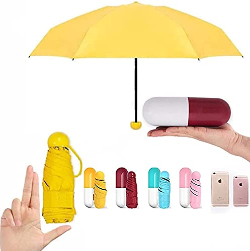 HomeJoy Natural Travel Umbrella Windproof and UV Protection with Capsule Case - Capsual-Umbrella (Assorted)