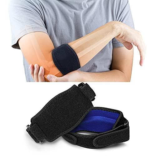 Codo Aweskmod para aliviar el dolor muscular, banda de codo transpirable para la epicondilitis y el dolor muscular del jugador de tenis o golfista