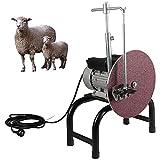 AeasyG Rectificadora eléctrica de Tijeras de Tijeras de Cabra de 550 vatios, afilador de Cuchillas de cortadora de ovejas Desmontable, Motor Grande con núcleo de Cobre, Alta eficiencia, para Granja