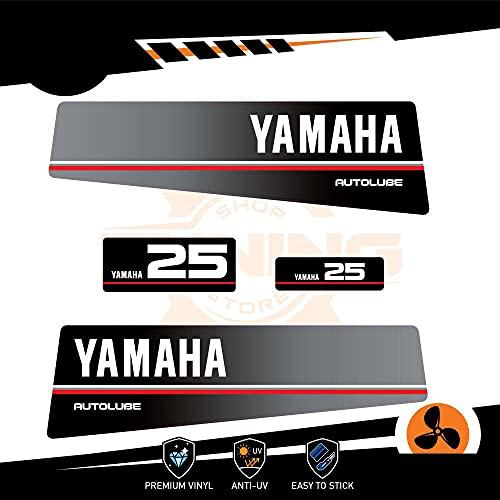 Generico Kit Adesivi Motore Marino Fuoribordo Yamaha 25 CV - Autolube Top 500