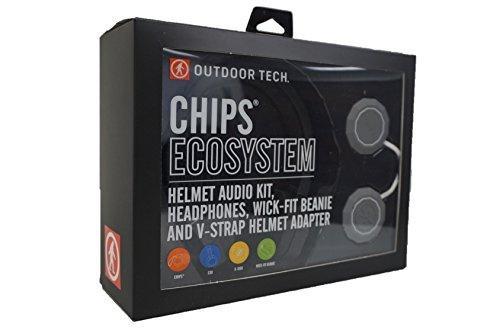 Outdoor Tech OT0552 Rugged Wireless Exoskeleton, Wick-Fit Beanie, K-Roo Pouch Helmet Audio kit, Multi
