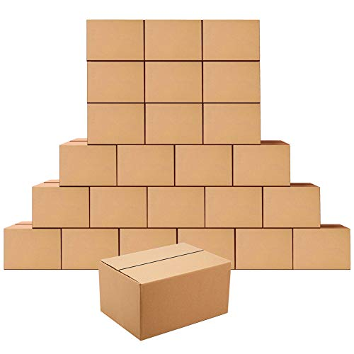 Scatole di spedizione 254x178x127MM,25 Pezzi Scatole cartone per trasloco