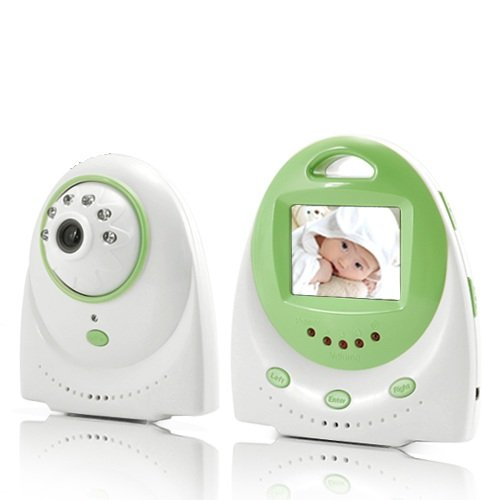 BW 2.4inch LCD Baby-Monitor mit Zwei-Wege-Audio-und Temperaturalarm - Grün