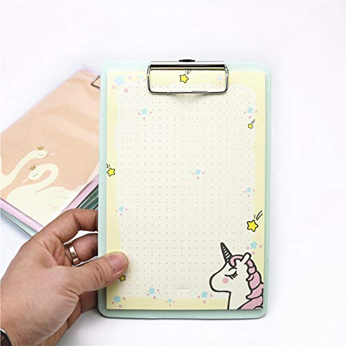 1 Uds lindo bloc de notas con forma de unicornio y gatos, Bloc de notas para estudiantes con clips para tablero de escritura de cartón, papelería escolar