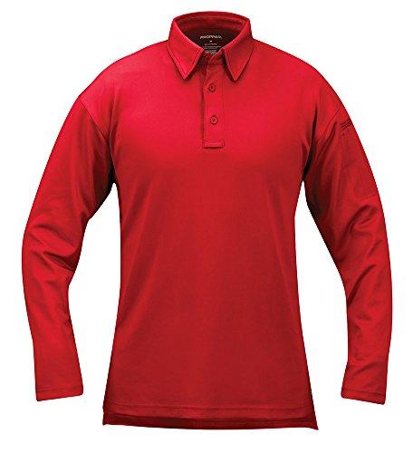 Propper Herren I.C.E. Langarm Performance Poloshirt, Herren, rot, XX-Large Regular