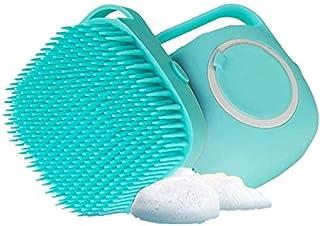 NAAVC Dog Shampoo Brush 80ml, Dog Bath Brush for Bathing and Shedding Short Hair, Soft Silicone Rubber Bristle Brushes for...