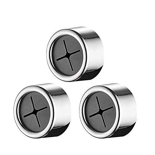 TUAKIMCE 3 soportes para toallas de puerta de cocina, soporte para paños de cocina, soporte para toallas, autoadhesivo, sin agujeros, para baño, cocina(Plata) ⭐