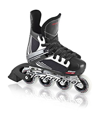 Bladerunner by Rollerblade Dynamo Jr Size Adjustable Hockey Inline Skate, Black and Red, Inline Skates , Size 1 - 4
