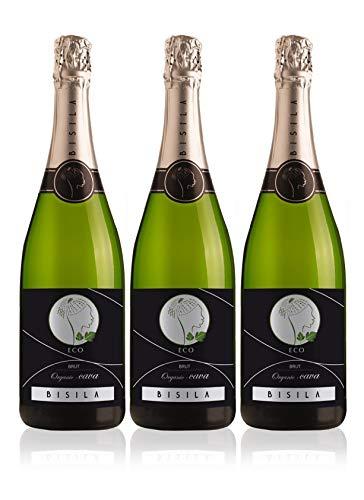 LADRÓN DE LUNAS Cava Bisila Brut Ecológico. Cava de la Comunidad Valenciana. 50% Macabeo, 50% Chardonnay. Botella de 75 Cl (Pack de 3 botellas)