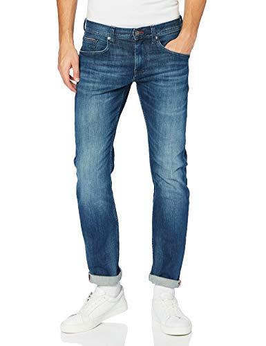 Tommy Hilfiger Uomo, Pantaloni, Straight Denton Pstr Gaines Blue, Gaines Blue, W34 / L32