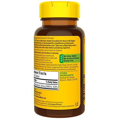 Nature Made Vitamin D3 5000 IU-180 Count