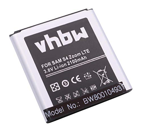vhbw Akku 2100mAh (3.8V) für Smartphone, Handy, Handy Samsung Galaxy NX Mini, NX3000, NX3300, NXF1 wie B740, B740AC, B740AE.