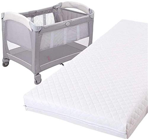 Travel Cot Mattress fits Graco, Red Kite, Mothercare & many more (95 x 65 x 5 cm)