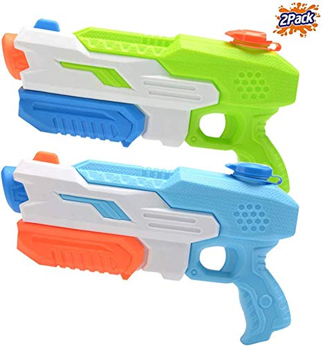 Mioshor Water Squirt Gun for Kids/Adults,Long Range Super Soaker Blaster Cannon Guns Pool Toy for Summer Party Shooter,Water Pistol Toy for Cat/Dog Training (Blue&Orange)