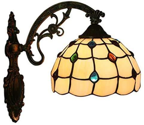 Lámpara De Tiffany En La Pared De Vidrio De Color En Su Mano La Luz De La Lámpara De Araña Europea Retro para Pasillo Sala De Nachtcafe,Segundo