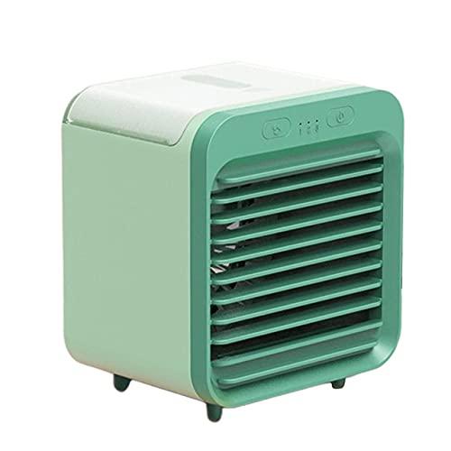 Dswe Mini USB, Ventilador de refrigeración de Aire portátil, Aire Acondicionado, luz de Escritorio, Ventilador de refrigeración por Aire, humidificador, purificador para Dormitorio de Oficina