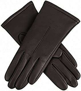 Dents Women's Leather Gloves With Single Point Stitch Detail And Fleece Lining