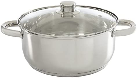 Ecolution Pure Intentions Dutch Oven 5 Quart Vented Tempered Glass Lid Stainless Steel product image
