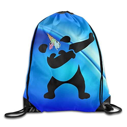 Tupfen Panda EIS Einhorn Unisex Home Rucksack Umhängetasche Sport Kordelzug Rucksack Tasche