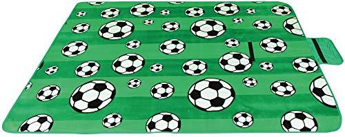 Picknickdecke wasserabw. mit Fotodruck, Auswahl: Größe - 200x200 cm Design - Fussball, Stranddecke Kofferraumunterlage Campingdecke