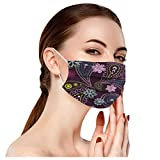 10 Pcs/Pack Digital Printed Decorative Disposable Face_Mask for Adults, 3-Ply Breathable Comfortable Non-Woven Fabric Face Covering Home School Office Outdoor Sneezed Droplets Protection