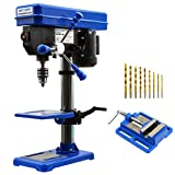 BILT HARD 10 in. Drill Press, 12-Speed Benchtop Drill Press with Vise and Drill Bit Set, CSA Certified