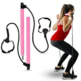 Upgraded Pilates Bar Home Gym Equipment - Highly Adjustable Strength Training Equipment, Thicker...