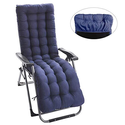 High Back Chaise Lounger Cushion Chair Pad Garden Thicken Patio Rocking Chair Cushion Oudoor Seat Cushion,Large Sun Lounger Cushion Waterproof-A 165x50cm(65x20inch)