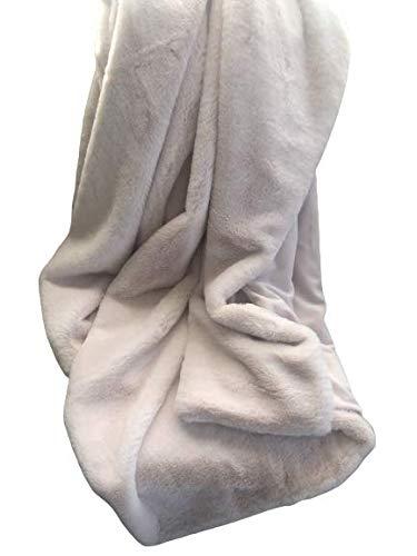 Max Studio Faux Fur Throw Blanket Plush Lightweight Blanket Soft Light Pink
