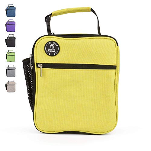 Adult Lunch Box For Men and Woman - Large Insulated Lunch Box - Professional Work Lunch Bag for Men and Women (Yellow)