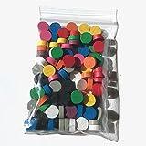 Fichas para juegos de mesa – pequeños discos de madera, 10 / 4 mm, utilizables, por ejemplo, como fichas de juego, fichas contadoras o marcadores (10 colores, 100 fichas de juego (10 x 10 chips))