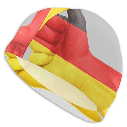 Zhgrong Deutschland Komfortable Fit Badekappe für Männer Frauen Erwachsene Jugendliche, 3D Ergonomisches Design