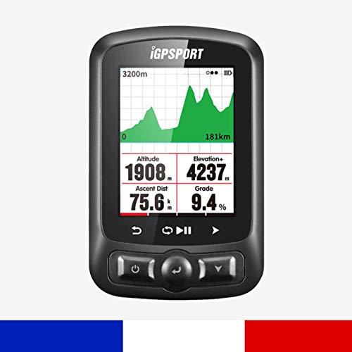 IGPSPORT iGS618 – High Tech fietscomputer GPS fietscomputer en routes GPS + GLONASS + beige navigatie en Suivi. Scherm 2.2
